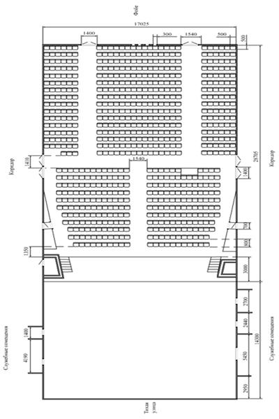 План-схема концертного зала